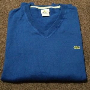 Lacoste mens sweater XL long Sleeves navy blue.